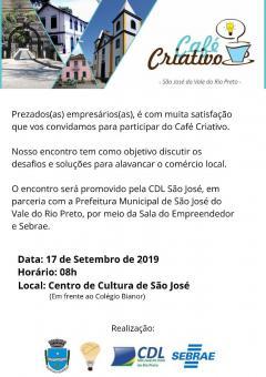 Café Criativo: encontro dos empresários locais.