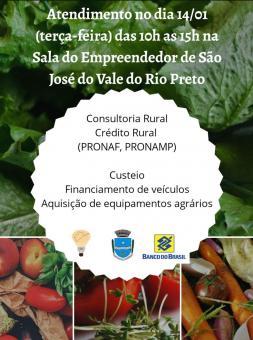 Crédito Agrícola e Pecuário para atender e beneficiar o produtor rural.