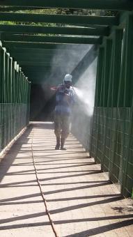 Prefeitura de São José realiza higienização de locais públicos.