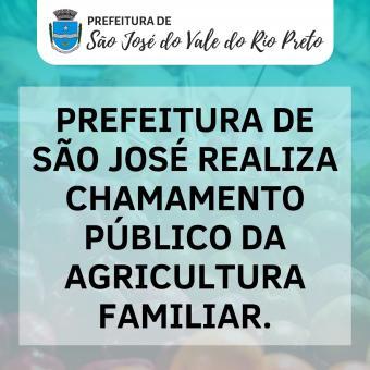 Prefeitura de São José realiza chamamento público da agricultura familiar.