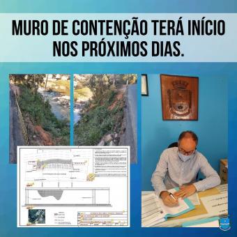 Muro de contenção terá início nos próximos dias.