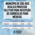 MUNICÍPIO REALIZA PROCESSO SELETIVO PARA RECEPÇÃO DE CURRÍCULOS  PARA ÁREA DE SAÚDE JAN/2021