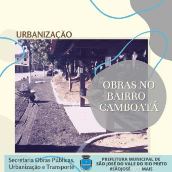 Obras de Urbanização no Bairro Camboatá