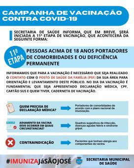 Campanha de vacinação contra COVID-19 (11ª Etapa)