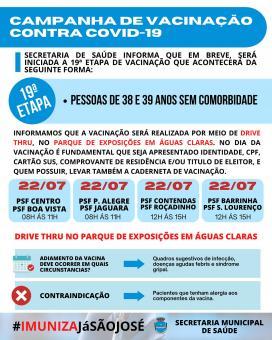 Campanha de vacinação contra COVID-19 (19ª Etapa)