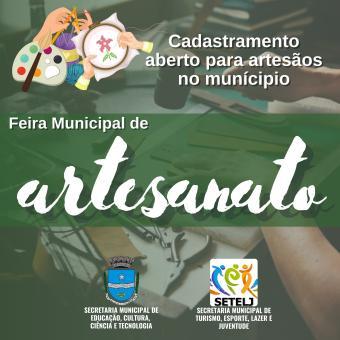 Feira Municipal de Artesanato CADASTRAMENTO