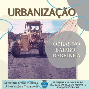 Obras de Urbanização no Bairro Barrinha