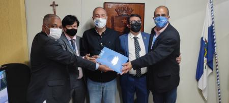 Prefeito Gilberto Esteves recebe o Conselho Regional dos Técnicos Indústriais - CRT/RJ