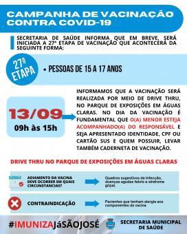 Campanha de vacinação contra COVID-19 (27ª Etapa)