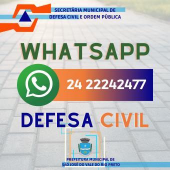 Whatsapp Defesa Civil
